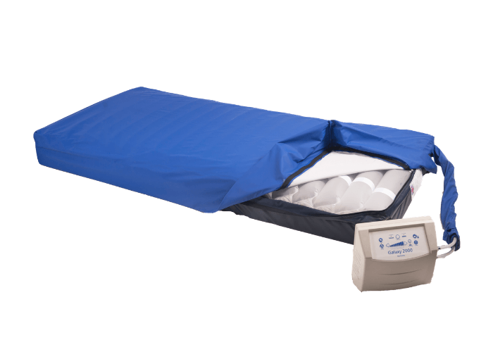 Mattress with cover unzipped
