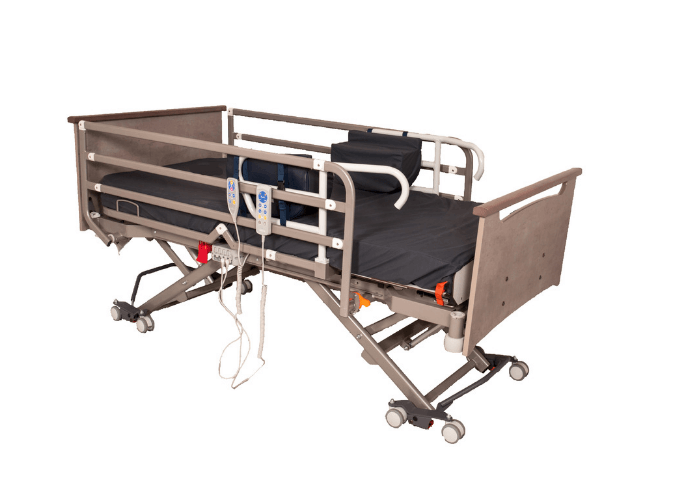 End Exit Care Bed Raised