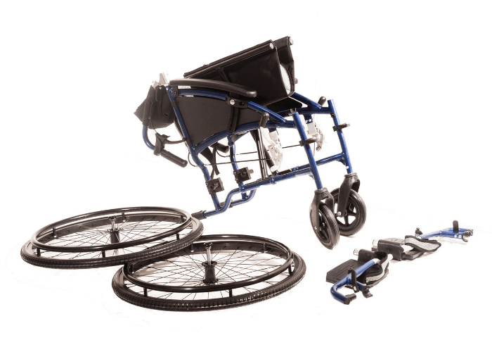 Sonic Self Propelled Wheelchair Disassembled